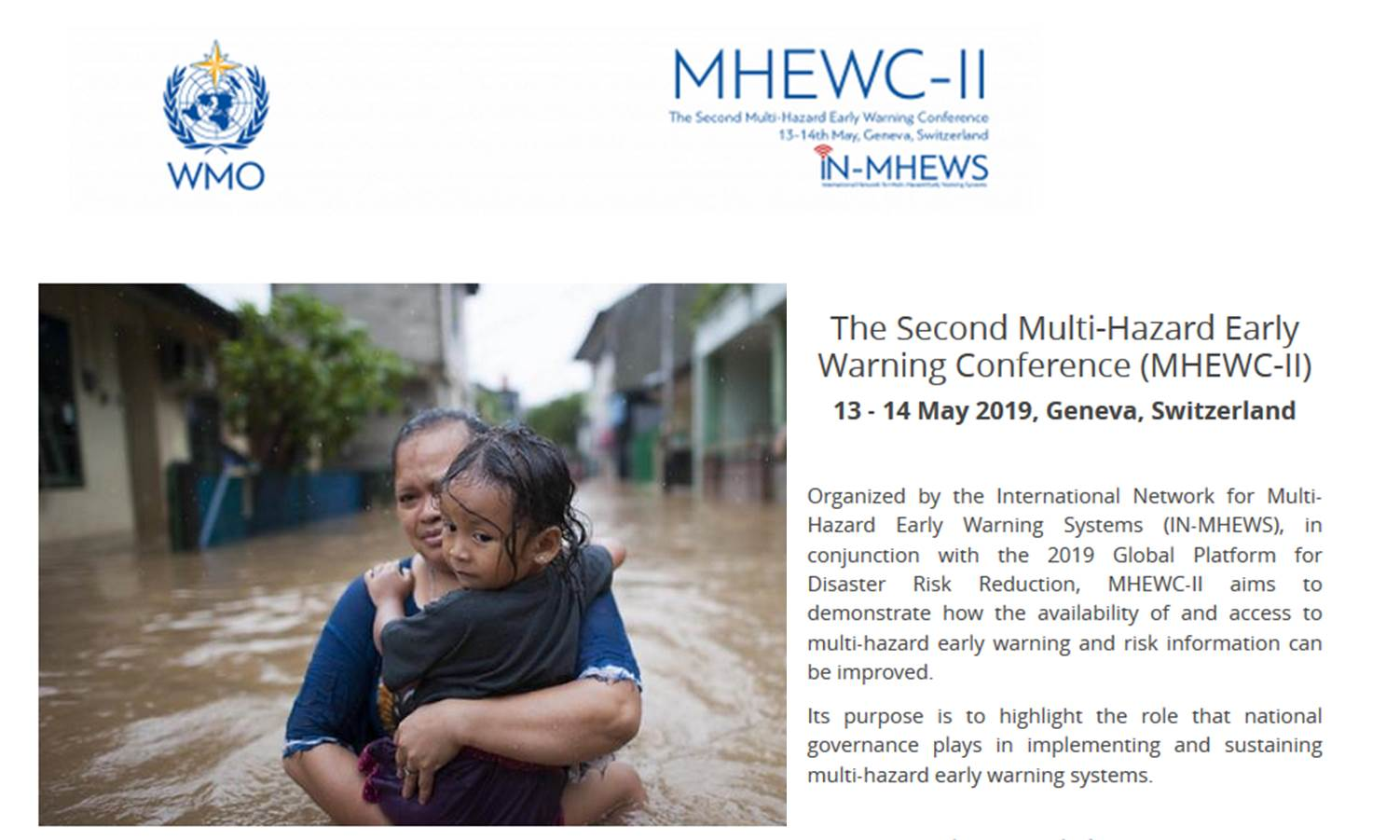 HIWeather in the second Multi-Hazard Early Warning Conference (MHEWC-II)